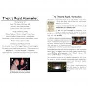 Theatre Royal Haymarket – DVD Insert #2